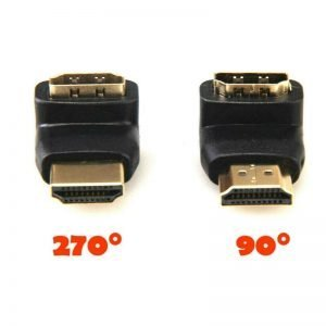 Right Angle HDMI Male To Female Adapter