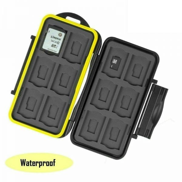 Micro SD Card Case Storage Holder 24 Slot Set Waterproof