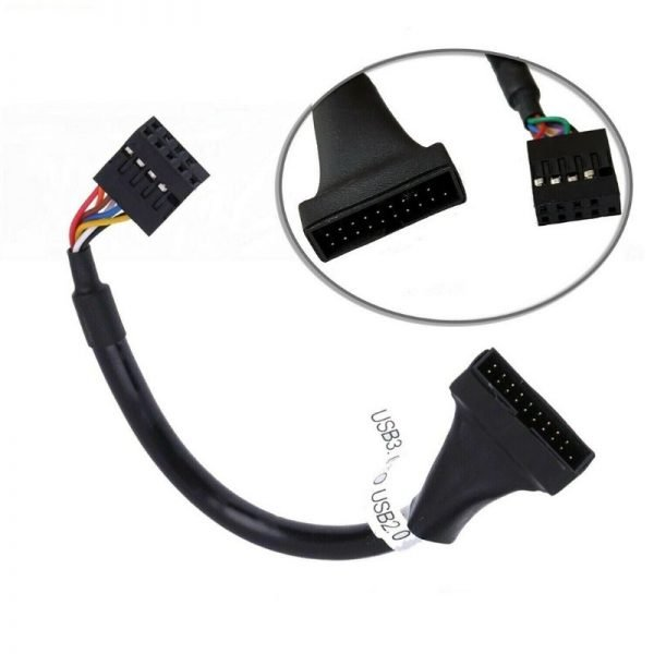 9 Pin Header Female USB 2 to Motherboard USB 3 20 Pin Male Cable