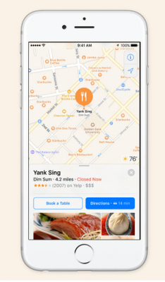 IOS 10: MAPS. NOW TAKING RESERVATIONS.