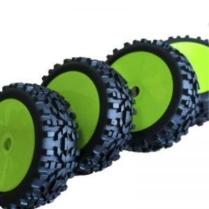 Rubber Tires Tyre 17mm Hub Wheel